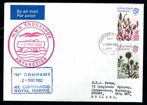Falkland Island Dependencies South Georgia - 1982 HMS Endurance Antarctica Cover