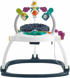 GPT46 Astro Kitty SpaceSaver Jumperoo 4-Position Height Adjustable Portable Play
