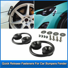 Black CNC Quick Release Fasteners For Car Bumpers Trunk Fender Hatch Lids Kit