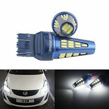 2x Ampoules T20 582 7440 W21W LED Blanc 48 SMD 5W Feux De Jour Clignotant Lampe