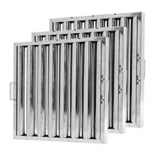 More details for 1/2/6pcs commercial kitchen range hoods grease baffle stainless steel filter kit