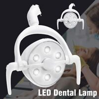 25000LM AC 12V-24V 6 LED Oral Lamp Teeth Care Induction Light Dental Unit Chair