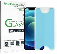 """amFilm (2 PK) OneTouch Tempered Glass Screen Protector for iPhone 12 Mini (5.4"""")"""