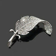 New Retro Vintage Cute Beautiful Feather Leaf Mini Cute Brooch Pin Salable
