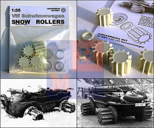 "1/35. Snow rollers for VW Schwimmwagen Typ 166 set, by ""Leadwarrior"" LW 35201"