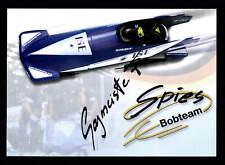 Franz sagmeister autografiada mapa original firmado bobfahren + G 20032