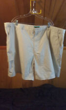Haband Fit-Forever Men's Ivory Flat Front Shorts size 52 Very Good