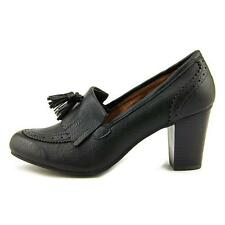 Bass leslie tassel black high heel loafer pump nib sz 7M stacked heel