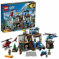 LEGO 60174 City Mountain Police Headquarters With Net Shooter Building Playset