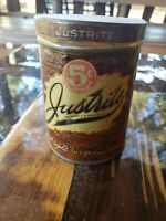 Vintage JUSTRITE Cigar Tin Kuhles & Stock District 5 Cents Tobacco Advertising