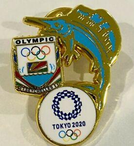 Seychelles Big Marlin Tokyo 2020 NOC Pin Badge (Dated) - LAST ONE!