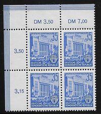 Allemand démocratique République Scott #166, plaque Bloc 1953 FVF MNH