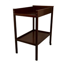 CHILDCARE  CHANGE TABLE Changing Changer 2 TIER Timber Wood walnut brown dark