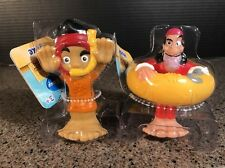 """DISNEY JAKE NEVERLAND PIRATES AND HOOK BATH TOY 4"""" FIGURE WATER SQUIRTER 2013"""