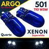 501 T10 W5w 194 Sidelight Bright White Light Xenon Bulbs 12v Side Canbus