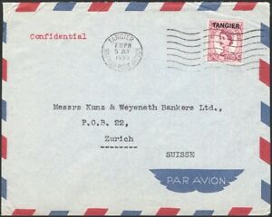 GREAT BRITAIN, 1955. Cover Morocco Agencies QEII 536, Zurich