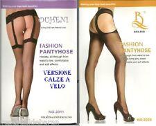 Calze Collant Donna Cavallo Aperto Finto Reggicalze OHUENI 11759-A706 Tg Unica