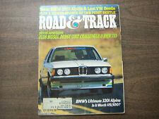 Road & Track Magazine BMW's Ultimate 320i Alpina November 1977 041912R