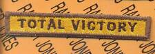 """607th Armored """"TOTAL VICTORY"""" TANK TAB patch"""