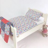DOLLS BED PRAM/COT BEDDING SET ~ GARDEN FLOWERS ~ BABY ANNABELL