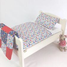 DOLLS BED PRAM/COT BEDDING SET ~ GARDEN FLOWERS ~ BABY ANNABELL