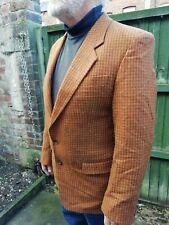 "Vtg 90s Mens Angelo Litrico Brown Check Wool Blazer Jacket 42""  Superb..."