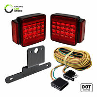 DOT Submersible LED Tail Brake Trailer Light Kit + Harness for All Size Trailers