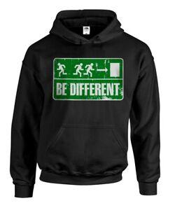 "Kapuzenpullover ""BE DIFFERENT"" Punk, HC, Sweatshirt, Hoody Funshirt Fluchtweg"
