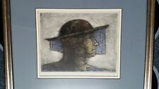 Ron Garrett signed limited edition aquatint 1988 The Renaissance man etching!