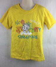 Merlion Kids Singapore Yellow Travel Souvenir Shirt Size XL