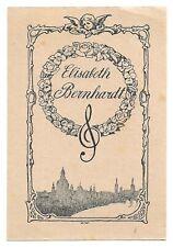 WALTER WITTING: Exlibris für Elisabeth Bernhardt