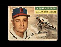 1956 Topps #273 Walker Cooper Vintage Baseball Card ~ Good ~ St. Louis Cardinals