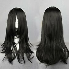 NARUTO-Orochimaru Hyuuga Neji 60cm Long Black Culry Synthetic Women Cosplay Wig