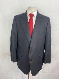 Tom James Men's Solid Gray Suit 48R 40X28 $1,375