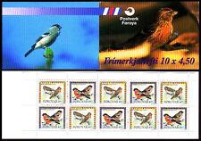 Isole Faroe 1997 VOLATILI LIBRETTO SG SB14 redpolls & bullfinches riquadro SG321a Gomma integra, non linguellato