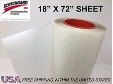 "Paint Protection Film Clear Bra 3M Scotchgard Pro Series 18"" x 72"" Sheet"