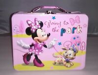 Disney Minnie Mouse Going To The Park Metal Lunch Box