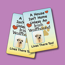 """""""Irish Wolfhound"""" A House Isn't Home - A Pair Of Dog Lover Cards - Sku# 59"""