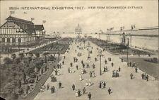 Irish International Exhibition Dublin 1907 From Donnybrook Entrance Postcard