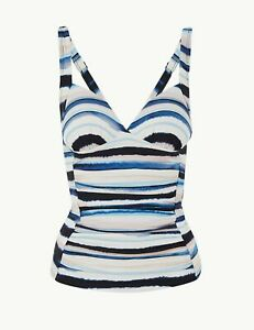 Lovely BNWT M&S 'water stripe' plunge tankini top 16 24
