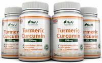 Turmeric Curcumin 4 x 365 capsules 500mg Anti-inflammatory Nu U Nutrition