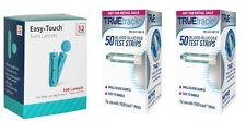 100 TRUEtrack Blood Glucose Test Strips + 100 Easy Touch 32-gauge lancets