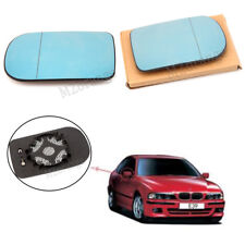 2X Wing Door Mirror Glass For BMW E38 1994-2001 E39 2000-2003 Heated BLUE LH+RH