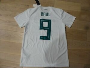 NWT 2018 World Cup Adidas Mexico #9 Raul Jimenez White Away Jersey (Men Medium)