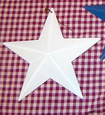 "5.5"" Rustic White Americana Metal Barn Star Vintage Country Primitive Tin Decor"