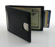 AG Wallets Mens Leather Bifold Wallet, RFID, Slim Design, Minimalist Money Clip