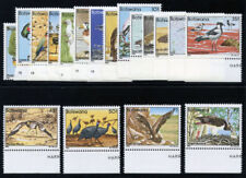 Bechuanaland 1982 QEII Botswana Birds set complete MNH. SG 515-532. Sc 303-320.