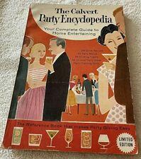 New listing Rare The Calvert Party Encyclopedia Vintage 1960 Cocktail Recipe Book Bartending