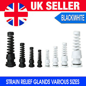 CABLE EXIT GROMMET PVC SLEEVED / STRAIN RELIEF / NYLON GLAND * VARIOUS SIZES *