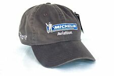 Michelin Aviation Tires HAT Embroidered US Flag Cap in GRAY Aircraft AHead Golf